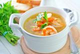 Fototapeta shrimp soup