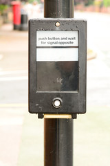 Pelican crossing control box