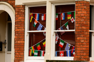World Cup Flag display in window