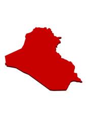 kırmızı ırak haritası tasarımı
