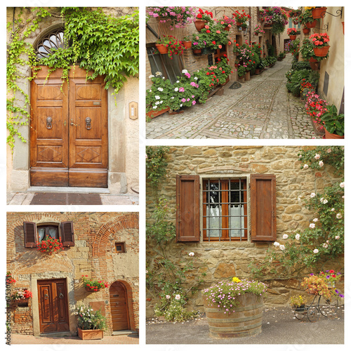 italian country lifestyle collage
