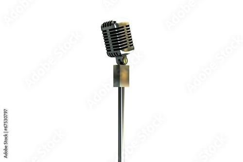 Foto op Plexiglas Retro Digitally generated retro microphone on stand