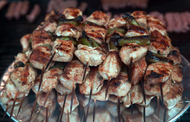 Turkish food Mixed kebab in the restaurant