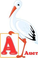Russian alphabet. letter A