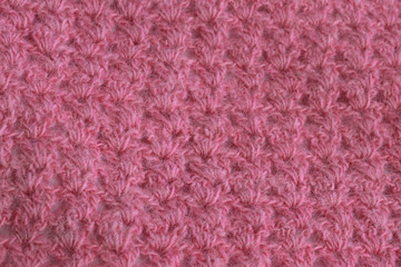 Handmade knitted fabric background
