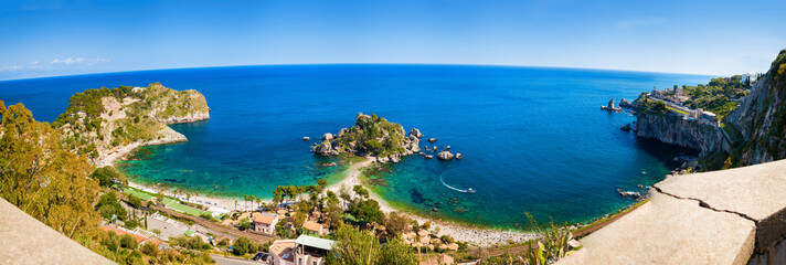 panorama of the beach Isola bella