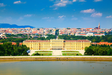Schonbrunn Palace in front of Vienna