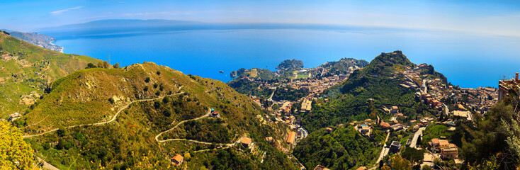 Taormina city from above