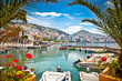 Leinwanddruck Bild - Saranda city port  at ionian sea. Albania.