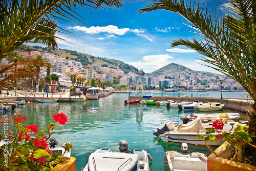 Saranda city port  at ionian sea. Albania. - 67533569