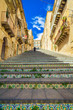 famous steps at Caltagirone, Sicily - 67533712