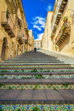 famous steps at Caltagirone, Sicily