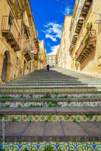 Fotobehang Trappen famous steps at Caltagirone, Sicily