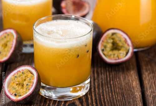 Glass with Maracuja Juice