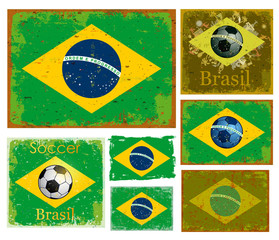 flag set of Brazil
