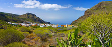 Panoramic image of the village in Tenerife