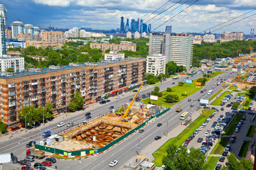 Cityscape: Construction of a new metro line in Moscow