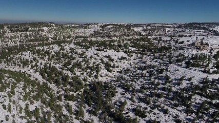 Jerusalem Snowy Mountains flight