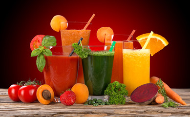 Fresh fruit juice, healthy drinks.