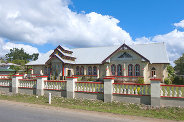 Christian church in Tonga Polynesia