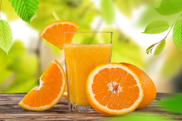 Fresh orange juice, healthy drinks.