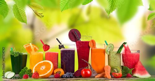 Papiers peints Cuisine Fresh fruit juice, healthy drinks.