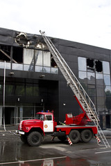 consequences of a fire in a Druzhba sports complex in the city o