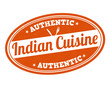 Indian cuisine stamp