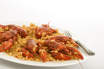 Rice with crabs