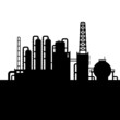 Oil Refinery Plant and Chemical Factory Silhouette 3. Vector - 67536114