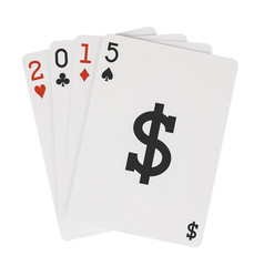 2015 Playing Cards with Dollar Sign Symbol