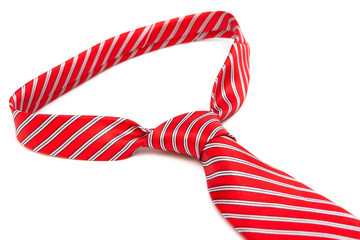 knot red necktie