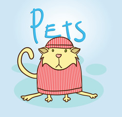 pet illustration cat