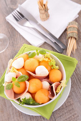 melon and prosciutto salad