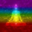 Regenbogen Yoga Chakra Konzept