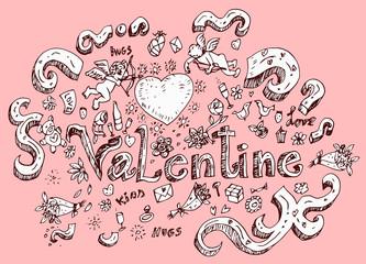 Valentine Doodles Design
