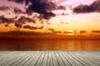 wooden jetty sunset