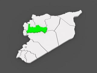 Map of Ham. Syria.