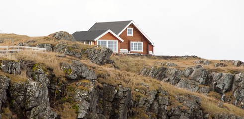 Typical houses in Iceland