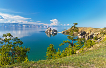 Summer on Lake Baikal. Sunny day on Olkhon island