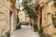 cobbled street in valetta old town malta - 67540748