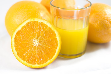 Orange with orange juice