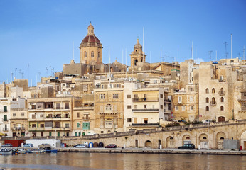 marina in old town of valetta malta