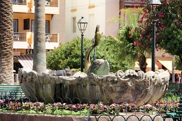 Stadtansicht Puerto de la Cruz Brunnen