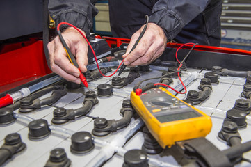 Forklift battery check