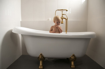 baby in a bathtub 02