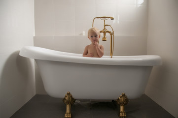 baby in a bathtub 03