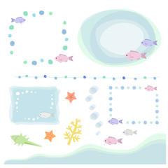魚のフレーム / vector eps