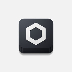 square button: polygon