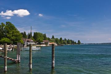 Insel Reichenau - Landschaft am Bodensee bei Mittelzell